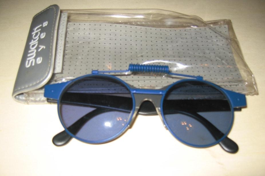 Occhiali vintage swatch blue